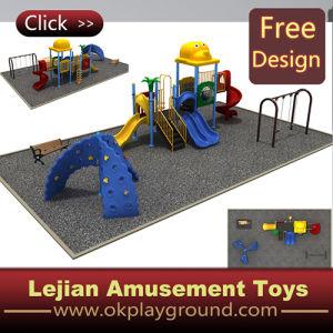 Les enfants Spiral Slide Backyard1502-3 de conception de terrain de jeu (X)