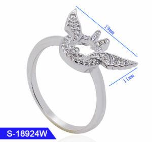 新しいデザイン卸売のための記念の宝石類の女性黒ダイヤのリング