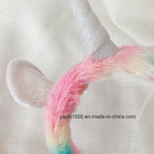 Comercio al por mayor de peluche suave de juguetes de peluche Unicornio zapatilla