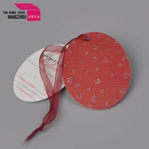 La moda y concisa círculo Dos colgar la etiqueta de papel de impresión