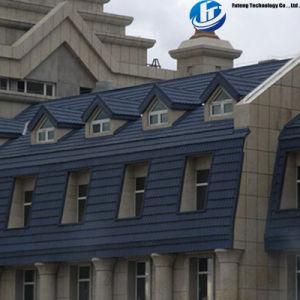 Строительных материалов Stone-Coated Earthquake-Resistant цветной металл кровельной черепицы