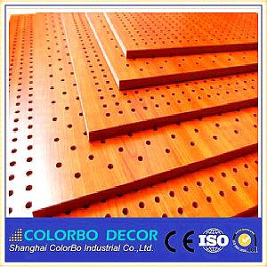 Eco bois Panneaux muraux en bois perforé acoustique