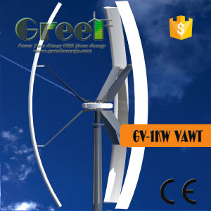 Uso do último piso 3Kw Turbina Eólica Vertical