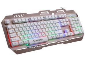 Het kleurrijke Toetsenbord van Gamer Backlight met het Ontwerp van de Legering van het Aluminium (kb-906el-c)