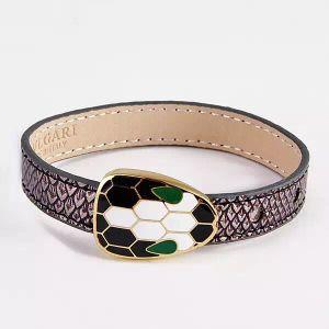 De Armband van de Armband van het Leer van de Slang van de Armband van het Leer van de manier