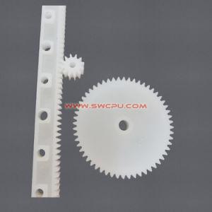 주문 높은 정밀도 검정 단단한 POM 플라스틱 선형 장치 가로장/나일론 큰 톱니 바퀴
