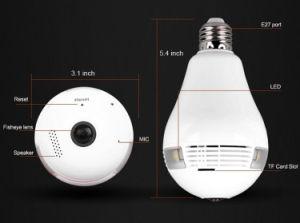 Comercio al por mayor de la cámara panorámica de 360 grados Bombilla de luz de la cámara IP de la cámara