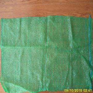 Sacchetto verde della maglia di 50X80 Raschel per le patate dell'imballaggio 40kg