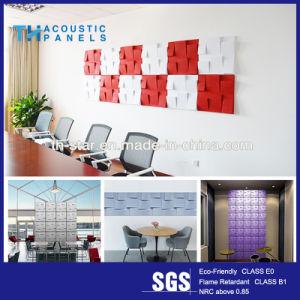 La Chine la fibre de polyester décoratif Panneau mural acoustique 3D / panneau de plafond