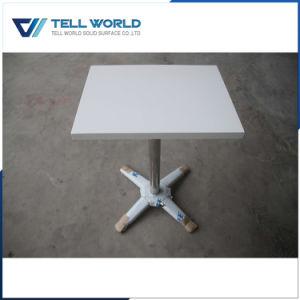 Nuevo Diseño de mármol Artificial juego de mesa de comedor Muebles de Cafe