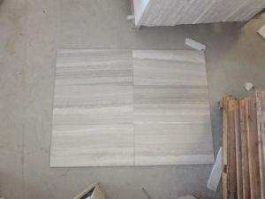 Opgepoetst Wit Houten Korrelig Marmer voor Tegels Floor&Wall
