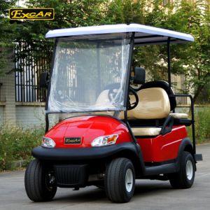Vermelho metálico 4 Passageiros carros de golfe eléctrico