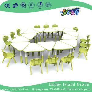 Kindergarten trapezoidal de madera Muebles de Escritorio (HG-4803)