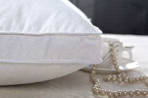 Оптовая торговля пуховые альтернативных подушку из 100% хлопка кровать остальной части шеи подушка для гостиницы и дома