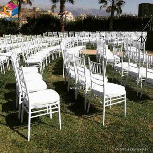 Het stapelen van de Stoel van Tiffany Chiavari van het Huwelijk van het Banket van het Restaurant van het Hotel van het Staal van het Ijzer van het Aluminium