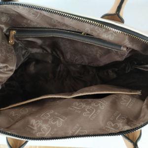 En línea Hotsale señoras de color de contraste de cuero de PU Gran Tote bolsas con correa para hombro