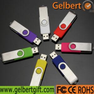 regalo de promoción de la capacidad personalizada Swivel USB Flash Drive Chip de memoria