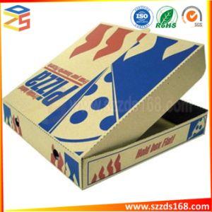 صنع وفقا لطلب الزّبون حجم [ب-فلوت] بيضاء يغضّن بيتزا صناديق