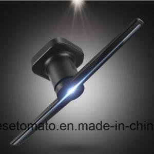 Глаза неприкрытой 3D голограмма отображения рекламы внутри помещений LED электровентилятора системы охлаждения двигателя