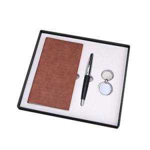 カスタム黒い囲まれたギフトの一定の昇進のサービス品の団体のギフトのペンはKeychainのノートによってセットした