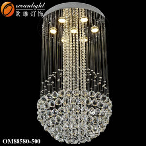 LED moderne lustre en cristal pendentif d'Éclairage Éclairage lampe moderne (OM88582-80)