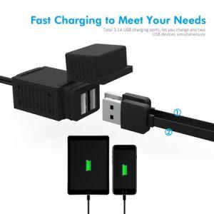 SAE aan de Haven Power Socket van USB Cable Adapter 3.1A Dual