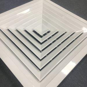 Quadratischer Decken-Aluminiumdiffuser (Zerstäuber) Ventilations-im dekorativen Luft-Diffuser (Zerstäuber)
