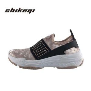 2019 La plate-forme Chunky Mesdames Casual Sneakers de patiner sur, Lady Fashion Sneakers Chaussures Femmes, Filtre en coin en daim personnalisé Sneakers Chaussures femmes