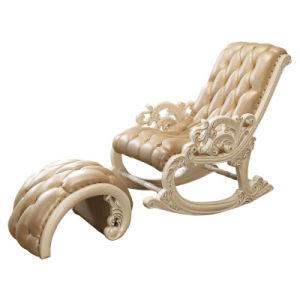 Mecedoras de madera con otomana en Optoinal Color silla (303)