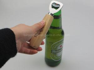 나무로 되는 손잡이를 가진 승진 선물 맥주 병 오프너