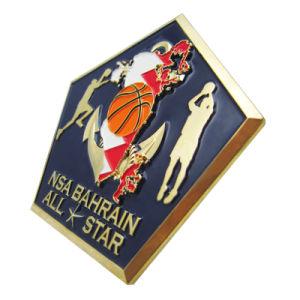 Kundenspezifisches Förderung-Geschenk Bahrain alle Stern-Basketballspiel-Antike-Goldherausforderungs-Münze (020)