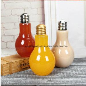 Bunte Form-Glassaft-Flasche der Glühlampe-500ml für Getränk