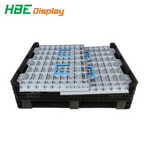 Bandejas plegables cajas de almacenamiento de palets de plástico plegable contenedor cuadro