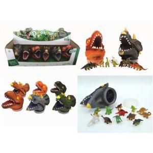 Tête d'animaux des jouets en vinyle en plastique avec mini-animaux de mer en plastique