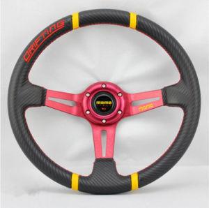 Rennend Sport 14 Duim 350mm het MonoStuurwiel van het Leer van pvc