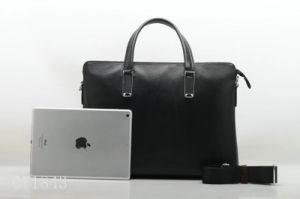 Производство новейших бизнес-мужчин из натуральной кожи Fashion сумка для ноутбука (F71843V)