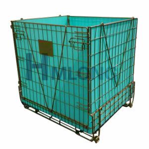 Logística de transporte de aço galvanizado Wire Mesh Cage para garrafas