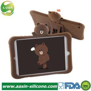 Housse en silicone Anti-Shock béquille Couvercle du carter de la tablette pour iPad