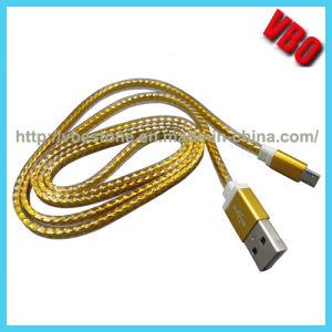Nuovo cavo piano del USB della lega di alluminio di arrivo 2015, micro cavo Braided del USB per il iPhone, telefono mobile di Samsung