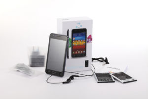 Ultra-fino! 5 MTK6577 Dual Core Android Market 4.0 HDD de SO de 4 GB de RAM 512 MB Teclado de toque capacitivo Smartphone 3G Suporte Tablet MID câmara dupla+GPS Bluetooth ++WiFi N9770