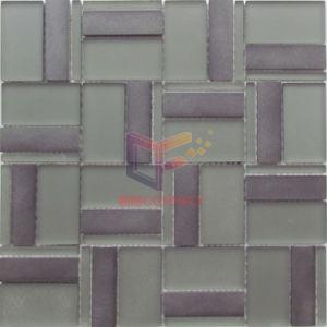 Het matte Mozaïek van het Aluminium van de Mengeling van het Glas van het Gezicht Grijze (CFA100)