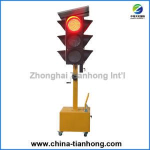 China hizo GPS inalámbrico de alta calidad Mobiontrolled Semáforo LED de energía solar