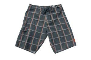 Plaid grigio Beach Shorts per Men