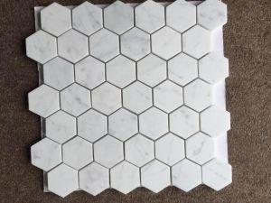 Piastrelle Esagonali Bianche : Mattonelle di marmo bianche del mosaico esagonale del marmo dell