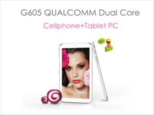 6.5Inch 3G de doble núcleo de Tablet PC Teléfono Bluetooth GPS Android 4.1 (G605)