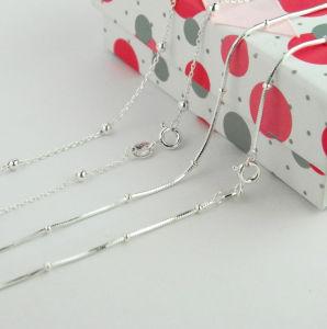 Monili d'argento, catena dell'argento sterlina, collana d'argento