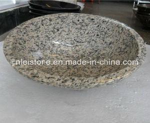 BathroomのためのトラSkin Yellow Granite Stone Wash Sink