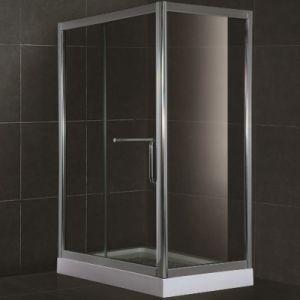 Ausgeglichenes Glas-Quadrat-Dusche-Bad-Gehäuse der Qualitäts-8mm (SR903)