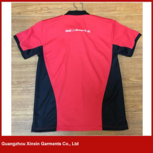 주문을 받아서 만드십시오 스포츠 착용 남자의 t-셔츠 (P131)를 인쇄하는 싼 형식을