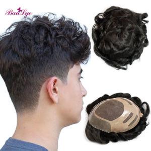 Meilleure vente Stock Cheveux humains faux toupets hommes faux toupets